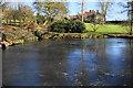 SO8698 : Frozen pond at Wightwick Manor by Bill Boaden