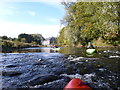 NZ2743 : Starting the Durham to Finchale section of the River Wear in low water by Andy Waddington