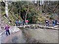 SN2338 : Croesi Afon Dulais / Crossing Afon Dulais by Alan Richards