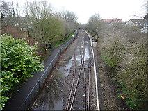 ST6771 : Oldland Common railway station, Gloucestershire by Nigel Thompson