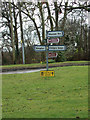 TL1419 : Signpost on Chiltern Green Road by Adrian Cable