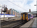 SJ8397 : Oxford Road station - diesel arrival from Liverpool by Stephen Craven