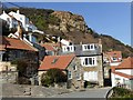 NZ8016 : Red roofed cottages in Runswick Bay by Graham Hogg