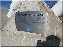 SD3317 : Marine Way bridge - plaque by Stephen Craven