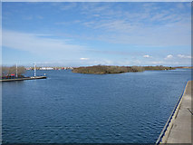 SD3317 : Southport Marine Lake, looking north by Stephen Craven