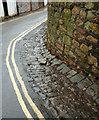 ST5874 : Cobbled gutter, Redland by Derek Harper