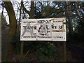 SU4515 : Entrance sign for former school at Townhill Park House by Dave Waghorn