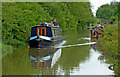 SP4578 : Oxford Canal west of Cathiron in Warwickshire by Roger  Kidd