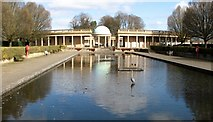 TG2007 : Eaton Park rotunda viewed across the lily pond by Evelyn Simak