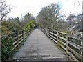 NY2723 : Former railway bridge over the River Greta by Christine Johnstone