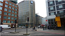 TQ2982 : Junction of Ossulston Street & Euston Road by Richard Cooke
