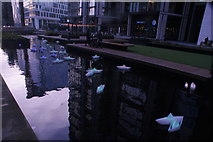 "TQ2681 : View of Steve Messam's ""Flotilla"" in the Paddington Basin #2 by Robert Lamb"