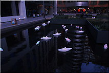 "TQ2681 : View of Steve Messam's ""Flotilla"" in the Paddington Basin #5 by Robert Lamb"