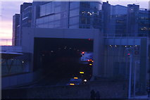 TQ2681 : View of the unusual sloped taxi tunnel through the new Paddington station canal entrance by Robert Lamb