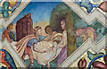 SK7288 : The Deposition, Mural, St Peter's church, Clayworth by Julian P Guffogg