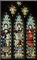 SK7288 : Stained glass window, St Peter's church, Clayworth by Julian P Guffogg