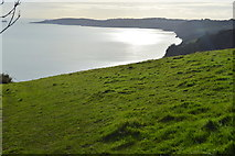 SX9370 : View south to Long Quarry Point by N Chadwick