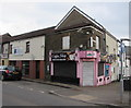 ST0889 : Pink corner in Treforest by Jaggery