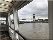SJ3290 : Approaching Seacombe Ferry Terminal by Jonathan Hutchins