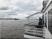 SJ3290 : Ferry on the Mersey by Jonathan Hutchins
