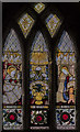 SK7288 : South Stained glass window, St Peter's church, Clayworth by Julian P Guffogg