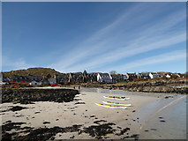 NM2824 : Canoes on the beach at Iona by Basher Eyre