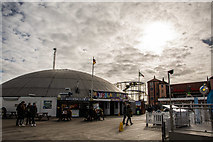 TQ3103 : Palace Pier amusement dome, Brighton by Oliver Mills