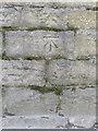 SJ8989 : Bench mark in Wellington Road, Stockport by John S Turner