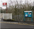 SO2900 : Pontypool & New Inn railway station name sign and information board by Jaggery