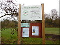 SP8901 : Noticeboard at Boug's Meadow by David Hillas