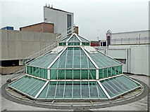 SO9198 : Glass roof structure on the Wulfrun Centre, Wolverhampton by Roger  Kidd