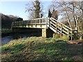 NZ1055 : Footbridge over River Derwent by Clive Nicholson