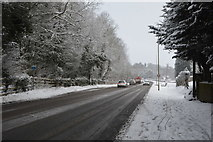 TQ5744 : Snow, A26 by N Chadwick