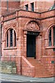 SE2932 : Former Holbeck Public Library - Main entrance with coat of arms and inscription by Alan Murray-Rust