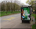 ST3188 : Do You Pod? advert on a Crindau bus shelter, Newport by Jaggery