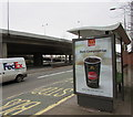 ST3089 : Zero Compromise advert on a Malpas Road bus shelter, Crindau, Newport by Jaggery