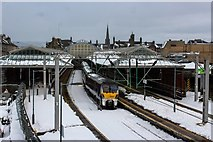NS2982 : A Snowy Helensburgh Central Railway Station by Adam Forsyth