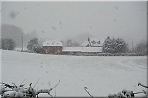 TQ5944 : Mabledon Farm in a snow storm by N Chadwick