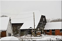 TQ5943 : Snow covered barn, Moat Farm by N Chadwick