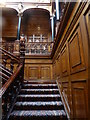 TQ3180 : Staircase to the gallery in 2 Temple Place, London by pam fray