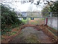 SX9093 : Entrance to former school in Higher Exwick Hill by Peter Holmes