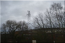SX8770 : Pylon by railway line by N Chadwick