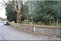 TQ2262 : Churchyard wall, St Mary's by N Chadwick
