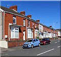SS6593 : Row of brick houses, Prince of Wales Road, Swansea by Jaggery