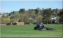 SU9948 : Cutting the Grass at Shalford Park by Des Blenkinsopp