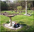 TG2108 : Birdbath in the gardens of remembrance by Evelyn Simak