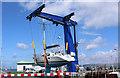 NX0561 : Marine Boat Lift, Stranraer by Billy McCrorie