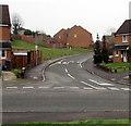 ST3099 : Towards speed bumps across Llandegfedd Way, New Inn by Jaggery