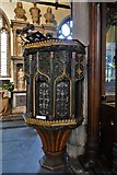 SX3384 : Launceston, St. Mary Magdalene's Church: The early c16th pulpit 3 by Michael Garlick