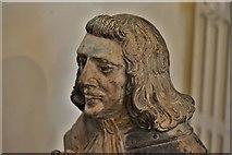 SX3384 : Launceston, St. Mary Magdalene's Church: The Piper effigies (detail) 2 by Michael Garlick